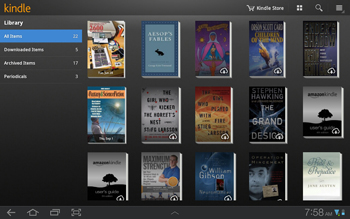 Amazon Kindle - Essential Android Tablet App