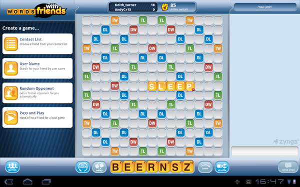 Words With Friends Android App