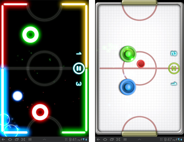 Glow Hockey 2 Realistic Air Hockey On A Tablet With 2 Player Mode