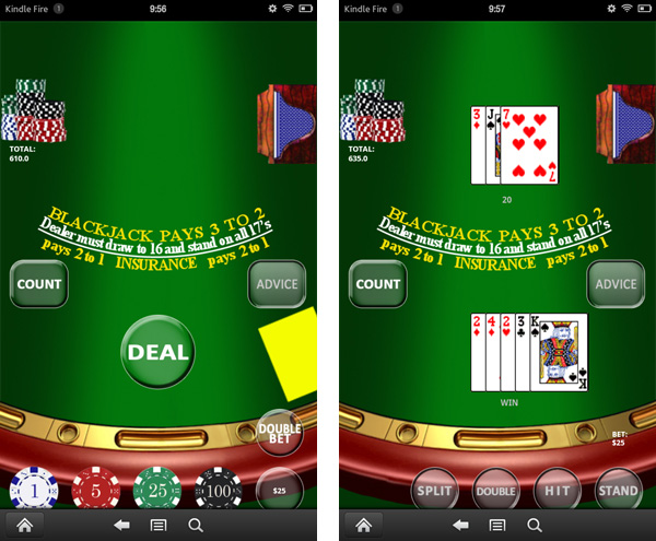 Real Blackjack for Kindle Fire