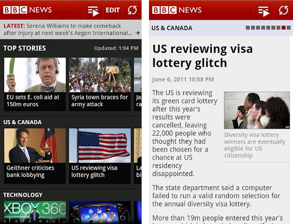 BBC News App for Tablets