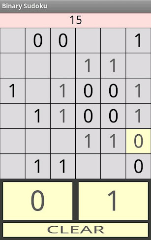 Binary Sudoku for Tablets