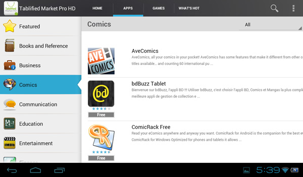 Tablified Market - Alternative Android Market for Tablets