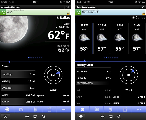 AccuWeather for Kindle Fire