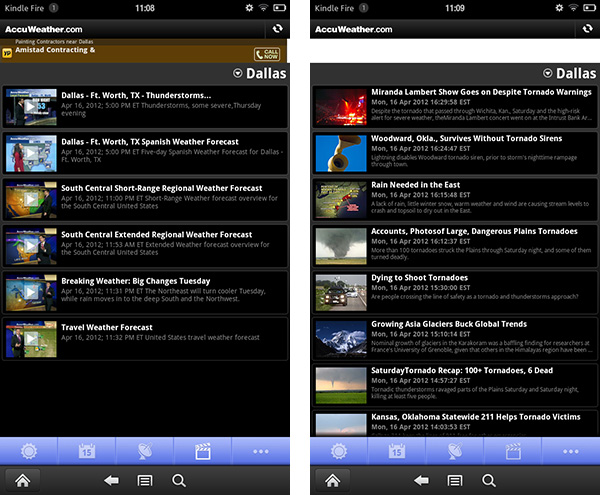 accuweather for android  weather app for kindle fire