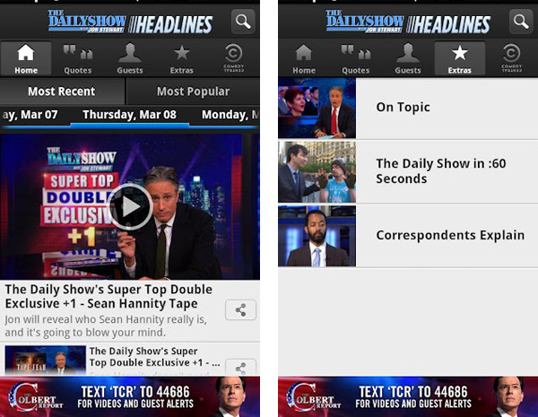 The Daily Show App on Android
