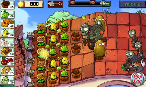 Plant vs Zombies on Kindle Fire