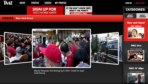 TMZ Android App for Tablets
