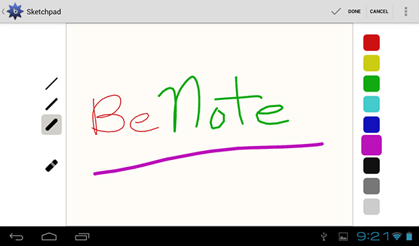Notetaking app for tablets