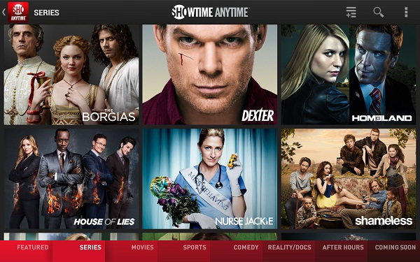 Showtime Anytime Android app