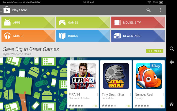 How to Install Google Play Store on Kindle Fire HDX
