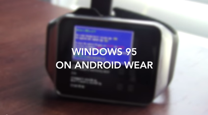 Windows 95 running on Android Wear….oh yes